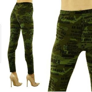 Pants - Soft casual camouflage leggings
